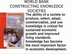 world bank constructing knowledge societies