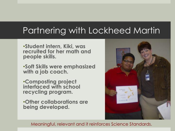 Partnering with Lockheed Martin