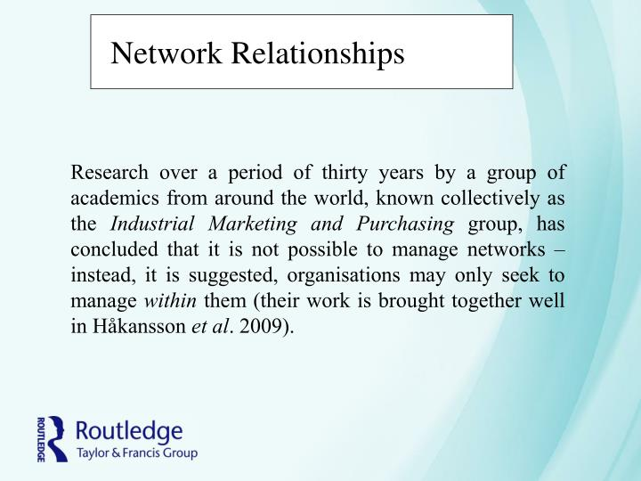 Network Relationships