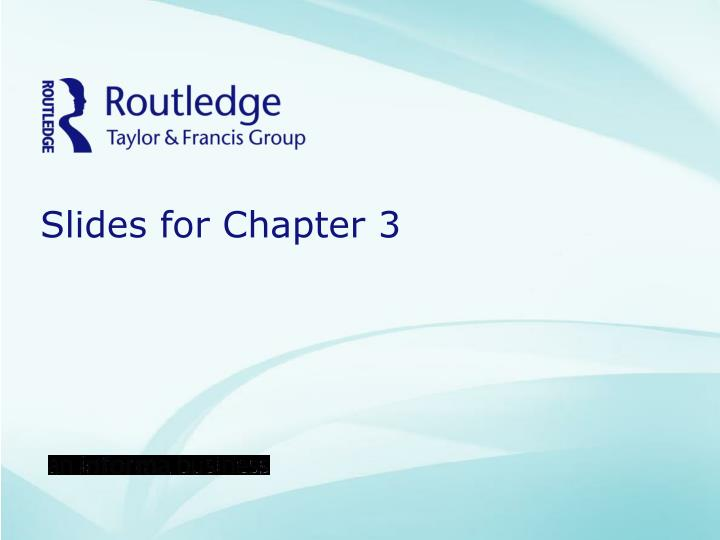 Slides for chapter 3