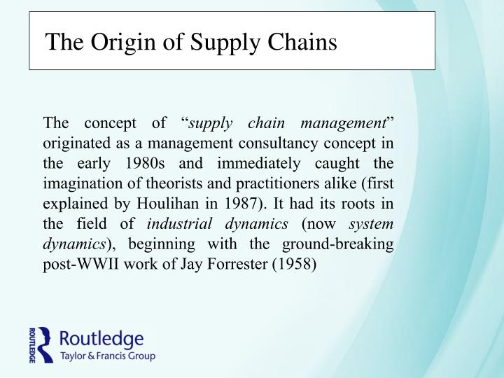 The Origin of Supply Chains
