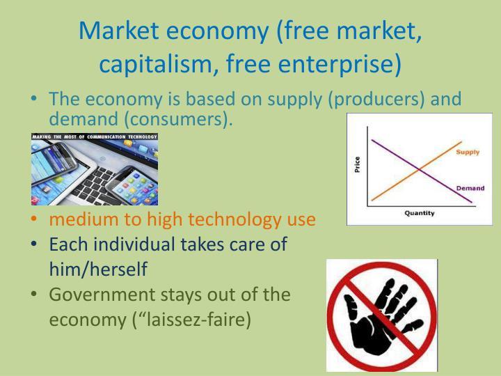 Market economy (free market, capitalism, free enterprise)