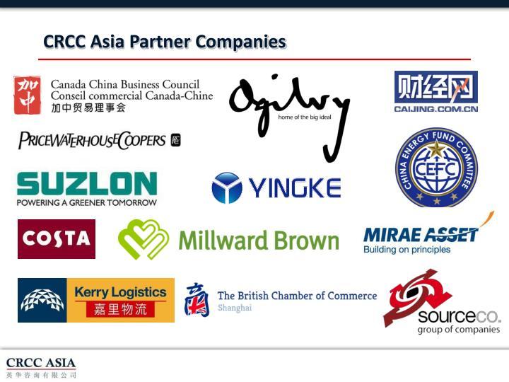 CRCC Asia Partner Companies