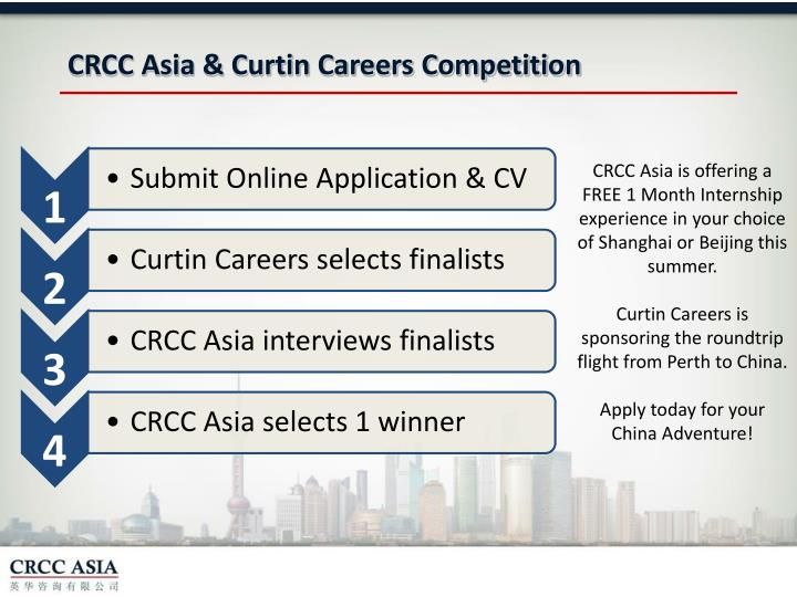 CRCC Asia & Curtin Careers Competition