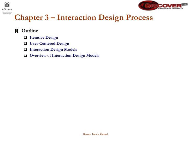 Chapter 3 interaction design process