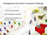 management into action innovation challenge