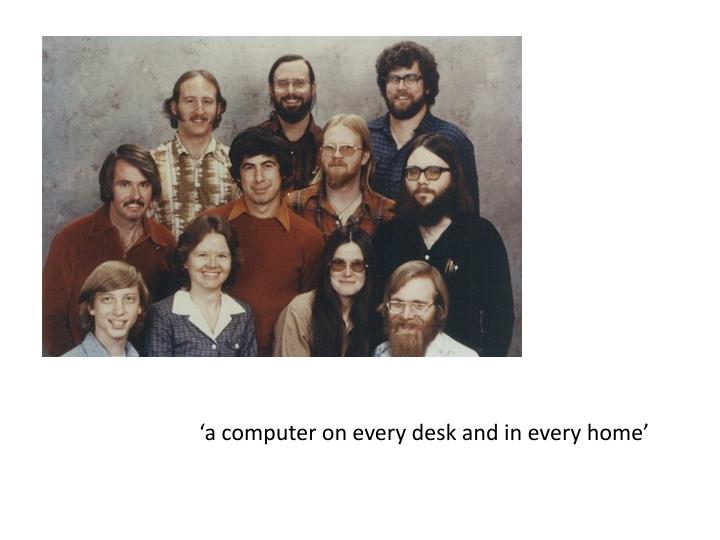 'a computer on every desk and in every home'