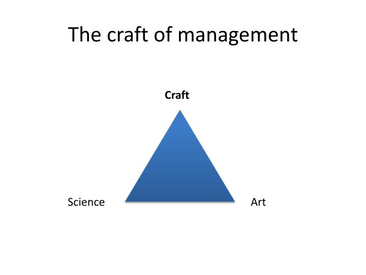 The craft of management