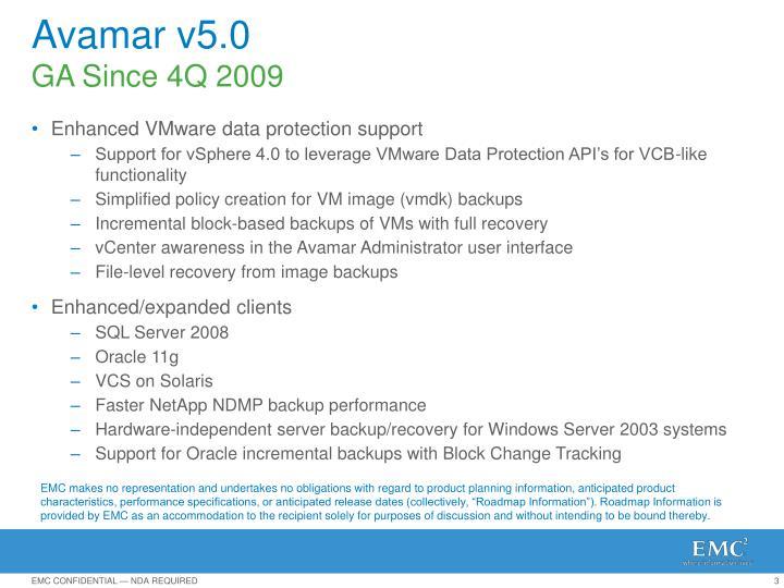 Avamar v5.0