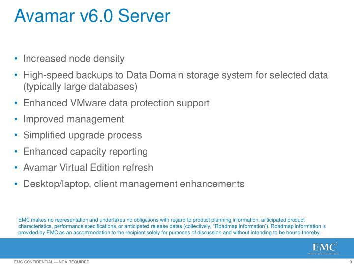 Avamar v6.0 Server