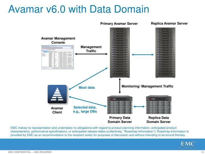 Avamar v6.0 with Data Domain