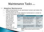 maintenance tasks cont3