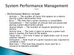 system performance management cont1