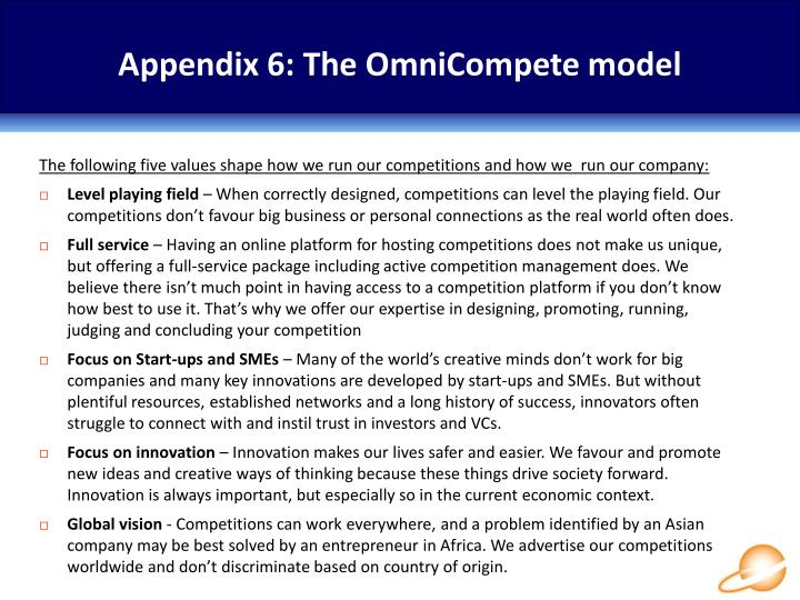 Appendix 6: The OmniCompete model