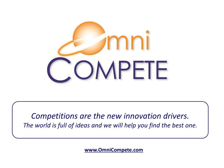 Competitions are the new innovation drivers.