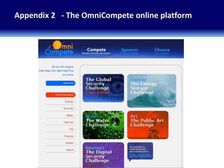 Appendix 2   - The OmniCompete online platform