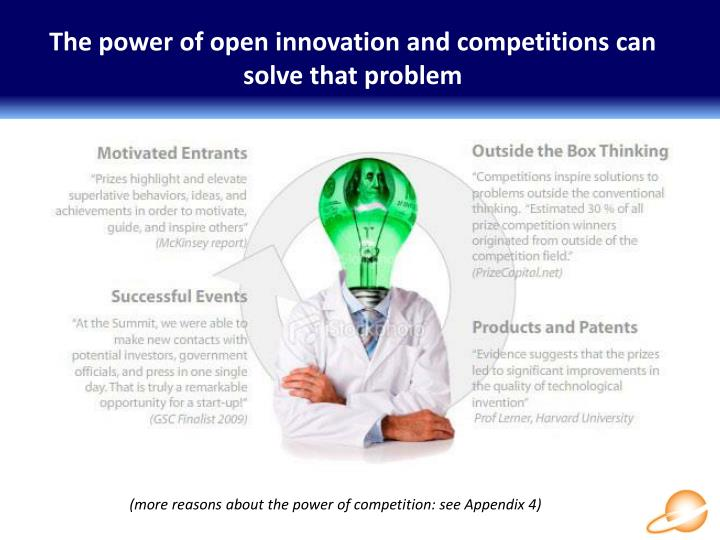 The power of open innovation and competitions can solve that problem