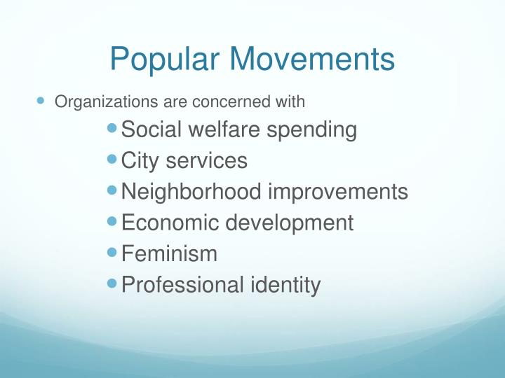 Popular Movements
