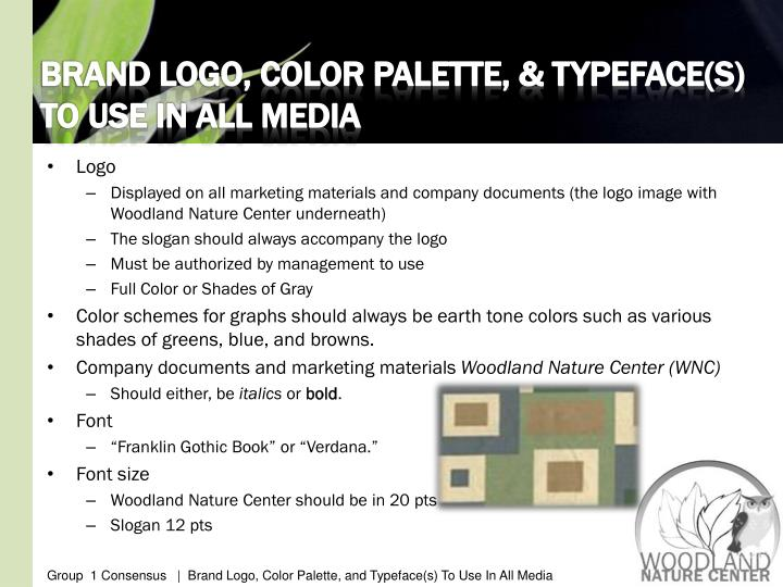 BRAND LOGO, COLOR PALETTE, & TYPEFACE(S) TO USE IN ALL MEDIA