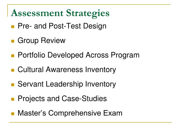 Assessment Strategies