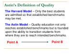 astin s definition of quality