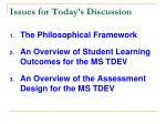 issues for today s discussion
