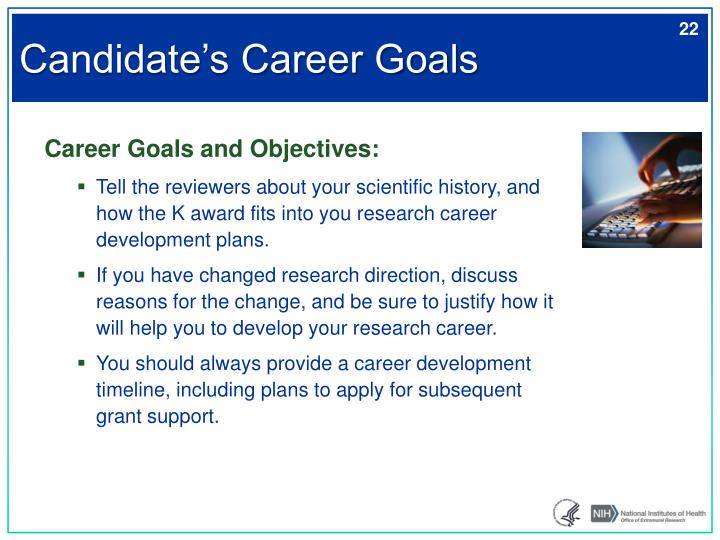 Candidate's Career Goals