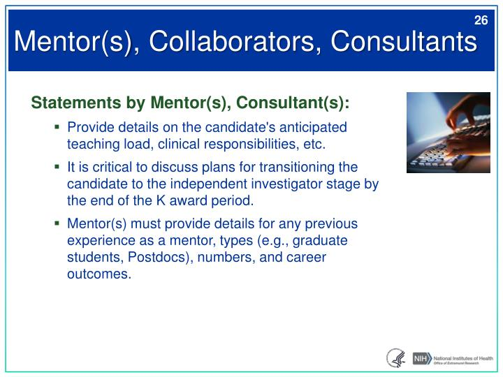 Mentor(s), Collaborators, Consultants