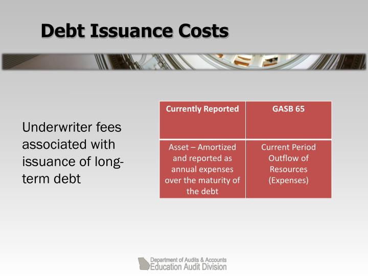 Debt Issuance Costs
