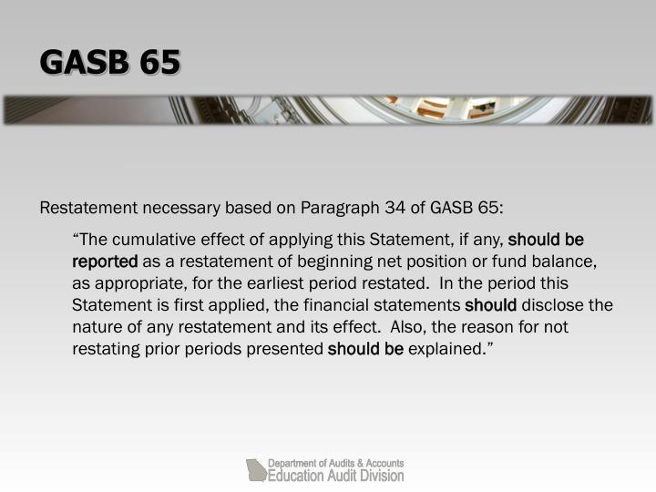 GASB 65