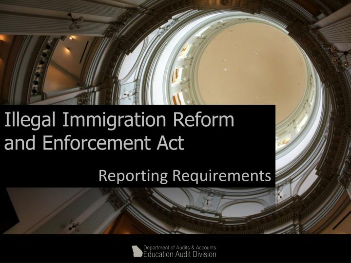 Illegal Immigration Reform and Enforcement Act