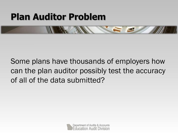 Plan Auditor Problem