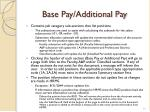 base pay additional pay