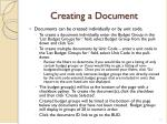 creating a document1