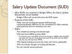 salary update document sud