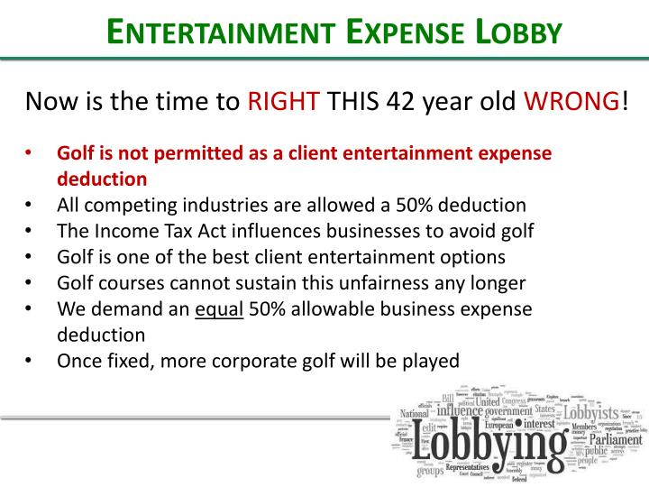 Entertainment Expense Lobby
