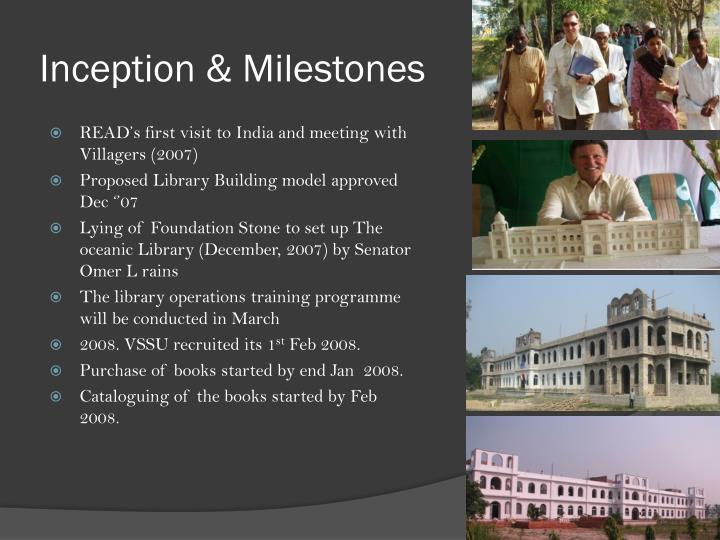 Inception & Milestones