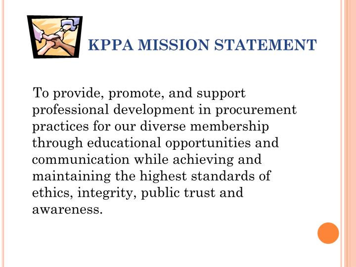 Kppa mission statement