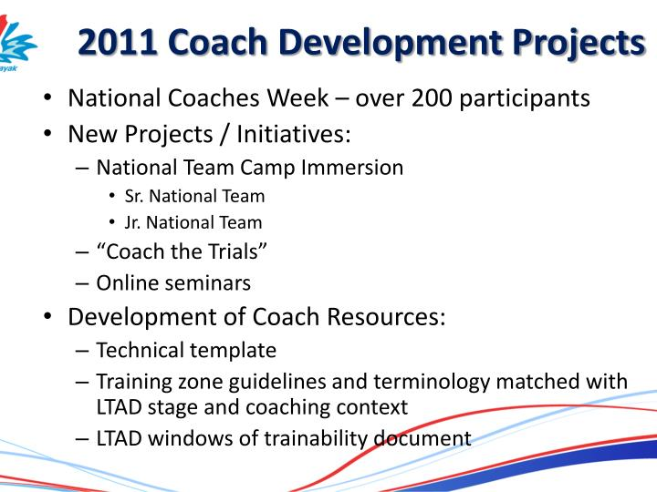 2011 Coach Development Projects