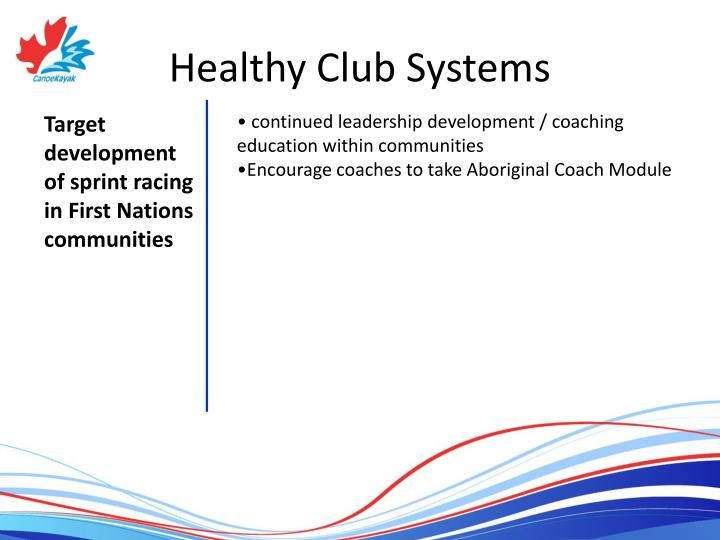 Healthy Club Systems