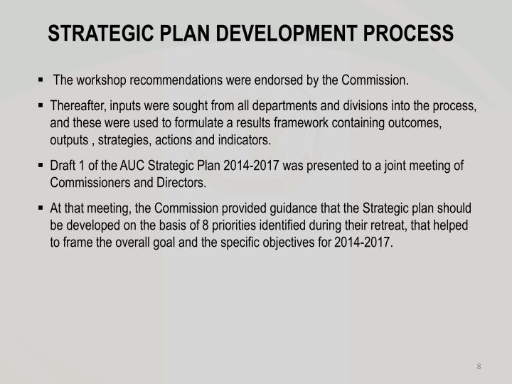 STRATEGIC PLAN DEVELOPMENT PROCESS