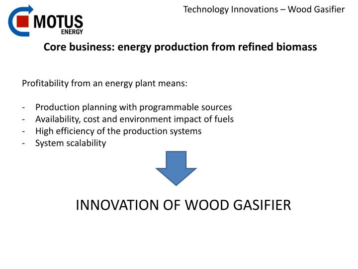 Core business: energy production