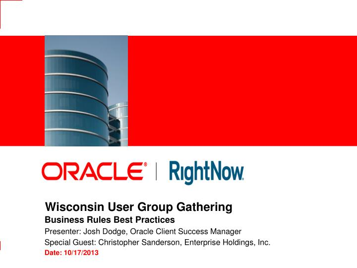 Wisconsin user group gathering