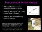 plant compost fertilizer analysis