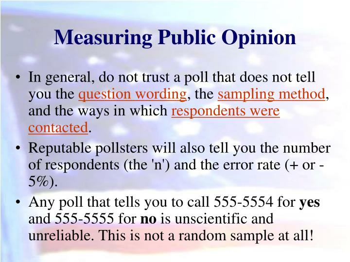 Measuring Public Opinion