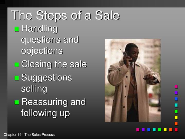 The steps of a sale1