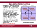 1 case competence learning