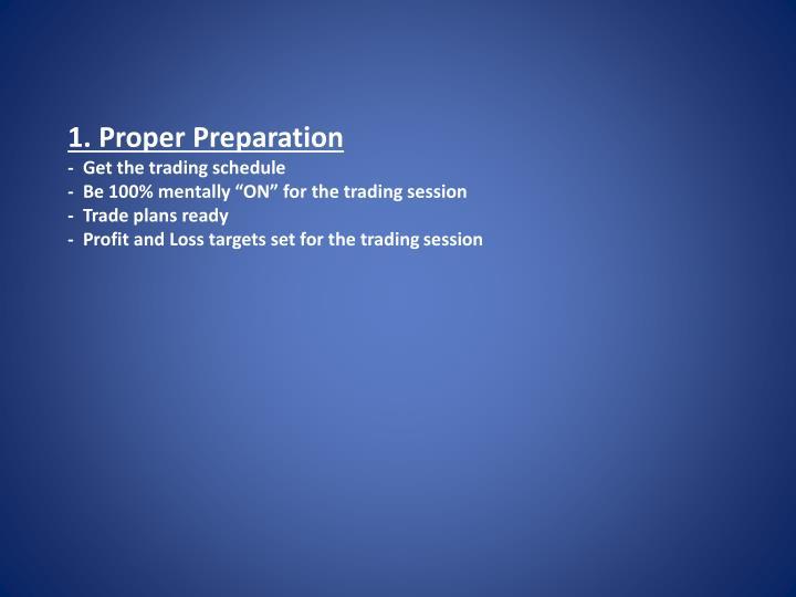 1. Proper Preparation