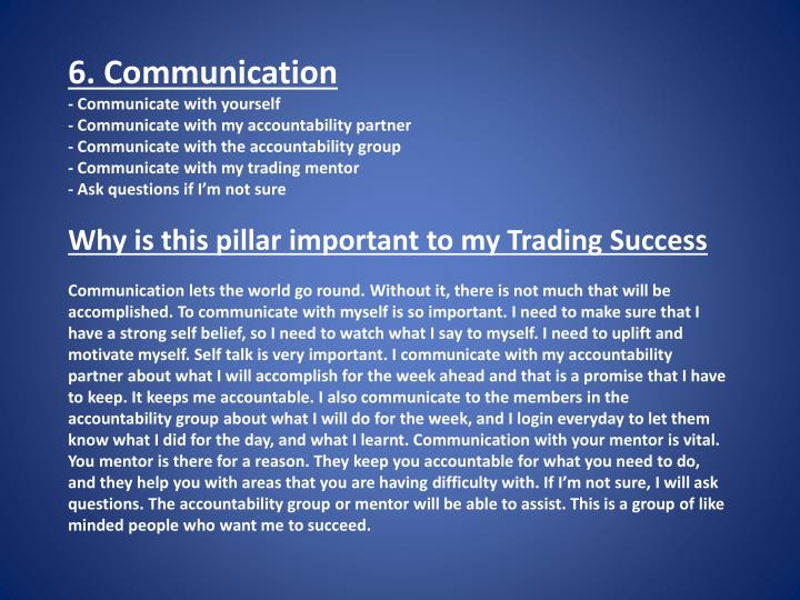 6. Communication