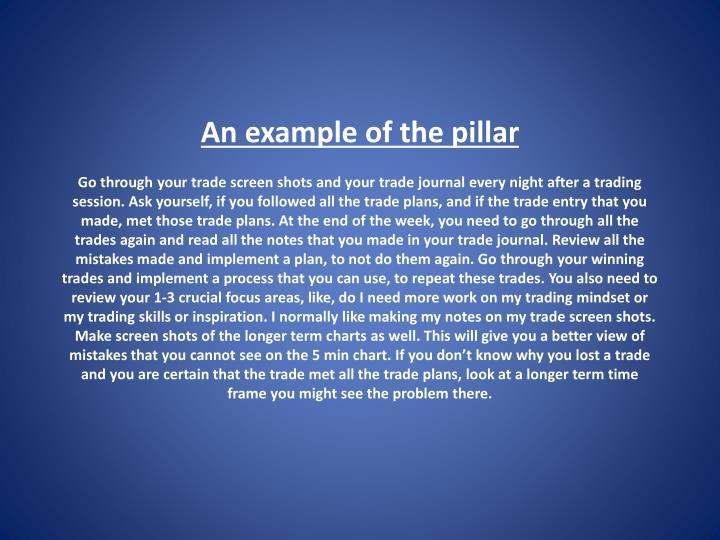 An example of the pillar